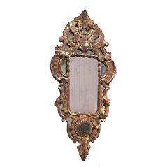 Antique Rocaille Gild Wood Mirror