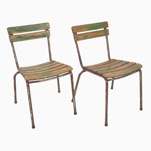 Vintage French Garden Chairs, Set of 2