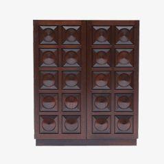 Modernist Belgian Cabinet with Graphic Doors
