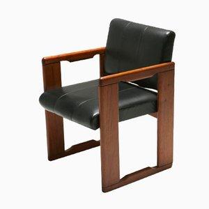 Vintage Leder Stuhl von Tobia Scarpa