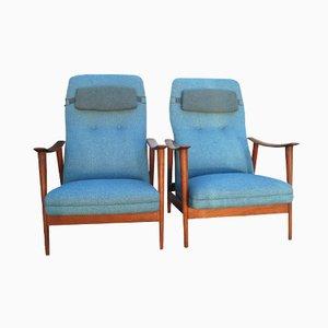Skandinavische Vintage Lehnstühle von Arnt Lande für Stokke, 2er Set
