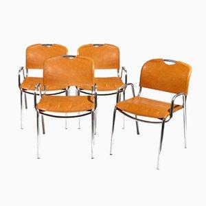 Castiglia Stühle von A. Castiglioni & M. Minale für Zanotta, 4er Set