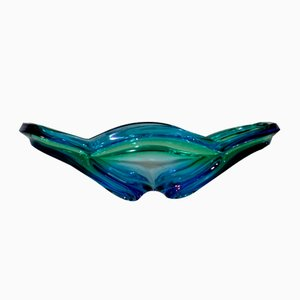 Green and Blue Murano Glass Bowl