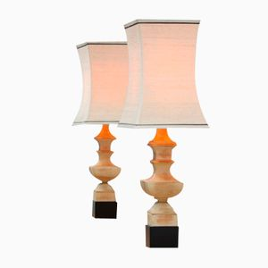 Pagoda Shaped Table Lamps by James Mont, Set of 2