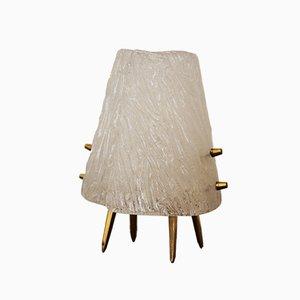Eisglas Tischlampen von Kalmar, 1950, 2er Set