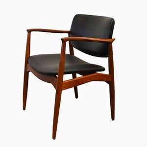 Teak Captain's Chair by Erik Buch for Ørum Møbler