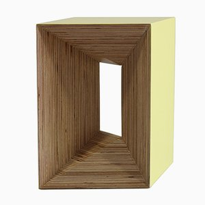 Gelber Plywood Stool von Studio Deusdara