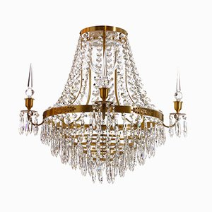 Large Brass Bathroom Chandelier