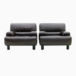 Schweizerische Vintage Leder Lounge Sessel von De Sede