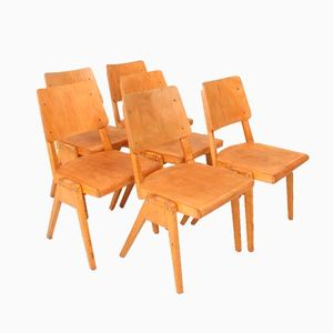 Vintage Stacking Chairs, Set of 6