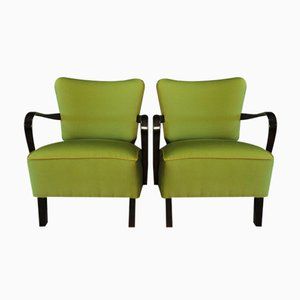 Green Cocktail Armchairs, 1950s, Set of 2