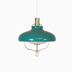 Green Hanging Light from LYFA, 1960s