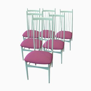 White Dining Chairs by E.M. Dettinger for Lucas Schnaidt, Set of 6, 1969