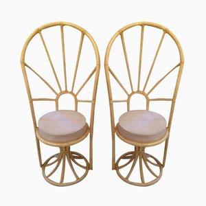 Italian Bamboo Chairs, 1970, Set of 2