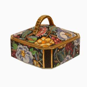 Scatola Art Déco in ceramica di Raymond Chevallier per Boch Frères