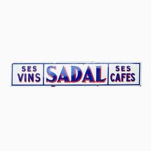 Vintage French Enameled Cafe Sign