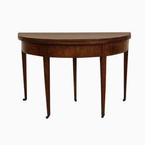 Antique Biedermeier Demi-Lune Table