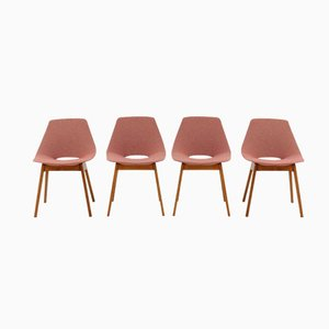 Tonneau Chairs by Pierre Guariche for Steiner, Set of 4