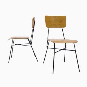 Spanische Mid Century Stühle, 1950er, 2er Set