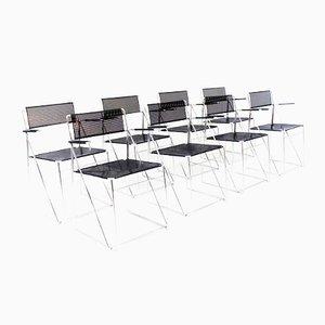 X Line Chairs by Niels Jørgen Haugesen for Hybodan, Set of 8