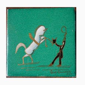 Carreau Art Déco en Ceramique par Gio Ponti pour Richard-Ginori, 1933