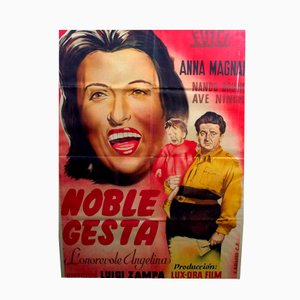 Framed Anna Magnani Noble Gesta Film Poster, 1947