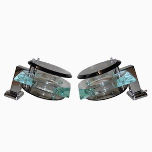 Wall Lights from Cristal Art, 1960, Set of 2