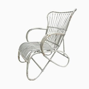 White Wicker Chair by Rohé Noordwolde, 1960s