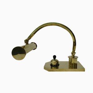 Polished Brass Art Deco Piano Light