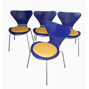 Modell 3107 Stühle von Arne Jacobsen für Fritz Hansen, 1976, 4er Set