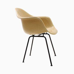 Sedia in fibra di vetro color senape di Charles & Ray Eames per Herman Miller, anni '60