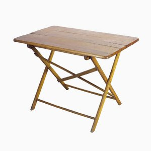 Foldable Industrial Wooden Work Table, 1930s