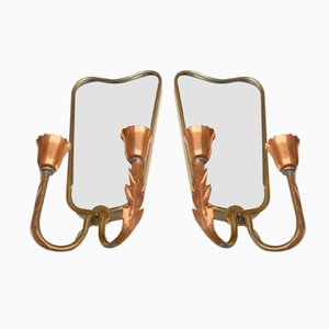 Mirror Wall Lights by Pietro Chiesa for Fontana Arte, 1920s, Set of 2