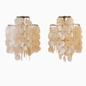2WM Shell Wall Lamps by Verner Panton for J. Lüber, Set of 2
