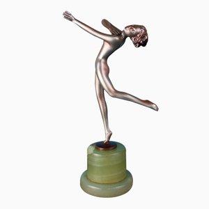Viennese Art Deco Bronze Figure by Lorenzl, 1930