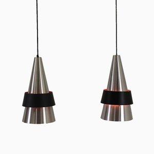 Corona Pendant Lamps by Jo Hammerborg for Fog & Mørup, 1960, Set of 2