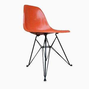 Orange Eiffel Base Side Chair by Charles & Ray Eames for Herman Miller