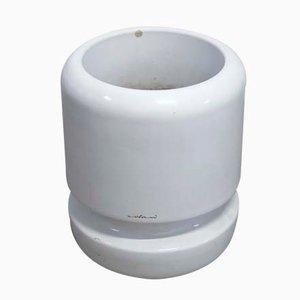Pot de Fleurs Cylindrique en Plastique par Luigi Colani, 1970s, Set de 2