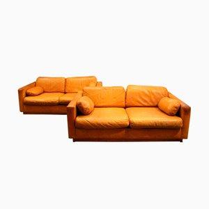 Leather Sofas, 1960s, Set of 2