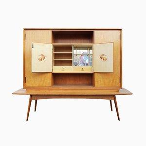 German Cherry Wood Bar Cabinet
