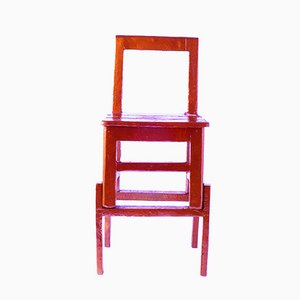 Chinese Stools - Made in China, Copied by the Dutch 2007, Hoher Roter Hocker von Studio Wieki Somers