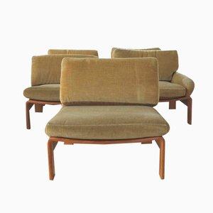 Vintage German Easy Chairs, Set of 5