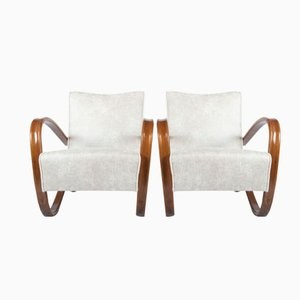 H269 Armchairs by Jindrich Halabala for Thonet, 1930s, Set of 2