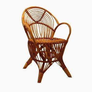 Rattan Side Chair, 1950s
