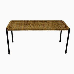 Vintage Austrian Rattan Side Table