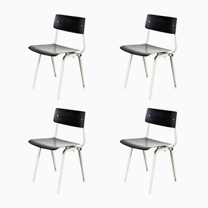 Mid-Century Theater Chairs by Friso Kramer for Ahrend de Cirkel, Set of 4