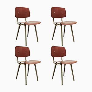 Revolt Chairs by Friso Kramer for Ahrend de Cirkel, 1953, Set of 4