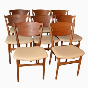 Model 42A Dining Chairs by Helge Sibast, 1953, Set of 8