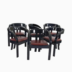 Elisa Chairs by Giovanni Bassi for Poltronova, Set of 6
