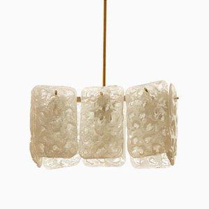 Austrian Ice Glass Chandelier by J.T. Kalmar